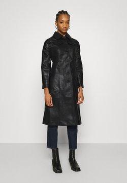 Who What Wear - BUTTON FRONT 70S COAT - Wollmantel/klassischer Mantel - black