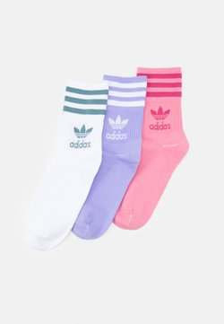adidas Originals - MID CUT UNISEX 3 PACK - Socken - hazy rose/wild pink