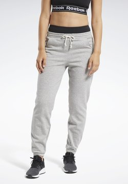 Reebok - TRAINING ESSENTIALS FLEECE JOGGERS - Jogginghose - grey