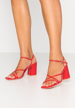 Nly by Nelly - FLARED BLOCK  - High heeled sandals - red