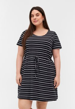 Zizzi - Tunika - black/white stripe