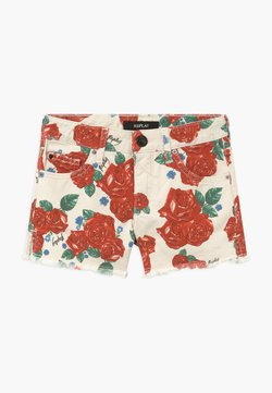 Replay - Jeansshort - white/red