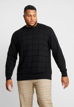 Jack´s Sportswear - GEOMETRIC PATTERN O-NECK - Pullover - black