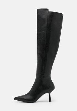 NA-KD - FRONT SEAM TIGHT HIGH BOOTS - Overknee laarzen - black