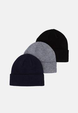 Pier One - 3 PACK UNISEX - Bonnet - black/grey/dark blue