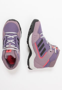 adidas Performance - TERREX HYPERHIKER TRAXION HIKING SHOES - Outdoorschoenen - tech purple/core black/shock red
