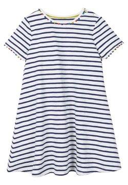 Boden - MIT REGENBOGENBORTEN - Jerseykleid - violet blue/natural white