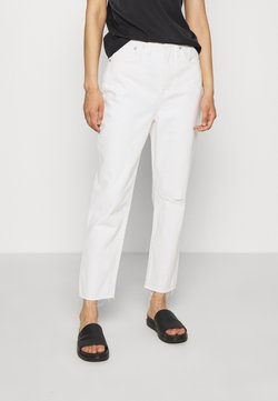 Madewell - MOM IN GRINDED RAW ADD RIPS - Jeans relaxed fit - tile white