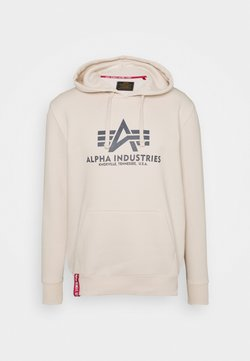 Alpha Industries - BASIC HOODY - Sweater - stream white