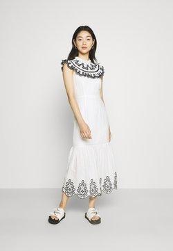 Never Fully Dressed - INDIE EMBROIDERED DRESS - Cocktailkleid/festliches Kleid - white