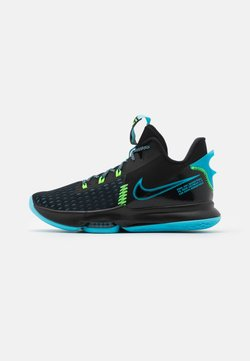 Nike Performance - LEBRON WITNESS V - Koripallokengät - black/lagoon pulse/green strike