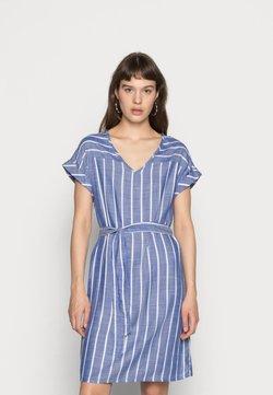 JDY - JDYJANINE DRESS - Freizeitkleid - blue/white