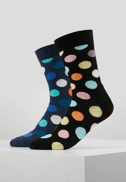Happy Socks - BIG DOT SOCK 2 PACK - Socken - black/multi-coloured