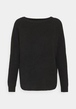 ONLY - ONLELENA BOATNECK - Pullover - black