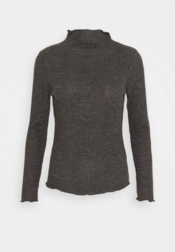 Selected Femme Petite - SLFLINNA  - Camiseta de manga larga - dark grey melange