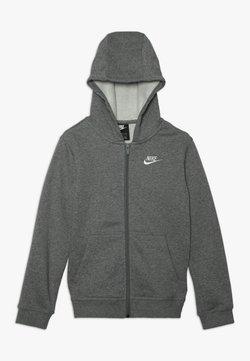 Nike Sportswear - HOODIE CLUB - Sweatjacke - carbon heather/smoke grey/white