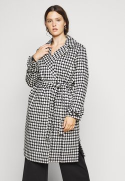 Vero Moda Curve - VMARIA LONG JACKET CURVE - Manteau classique - black / white