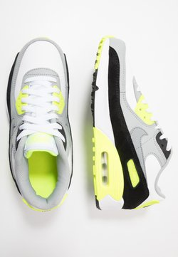 Nike Sportswear - AIR MAX 90 UNISEX - Trainers - white/particle grey/light smoke grey/volt