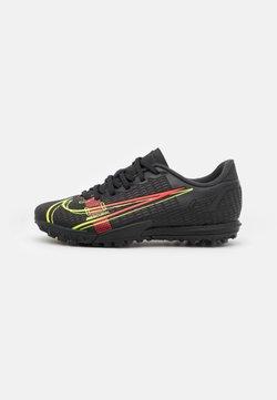 Nike Performance - JR MERCURIAL VAPOR 14 ACADEMY TF UNISEX - Voetbalschoenen voor kunstgras - black/cyber/off noir