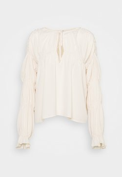 Nly by Nelly - INTO YOU FLOWY BLOUSE - Bluzka - beige