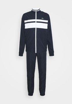 Lacoste Sport - TRACK SUIT - Träningsset - navy blue/white