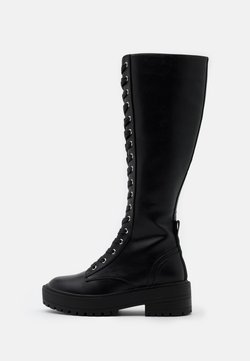 ONLY SHOES - ONL LACE UP TALL BOOT - Kozaki na platformie - black