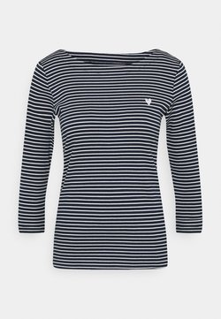 TOM TAILOR - STRIPE BOAT NECK - Langarmshirt - navy/white