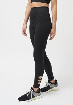 Next - BLACK LATTICE LEGGINGS - Tights - black