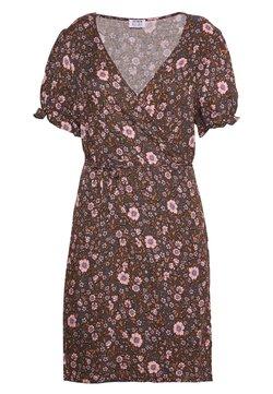 Cotton On Curve - WRAP MIDI DRESS - Day dress - multi-colour