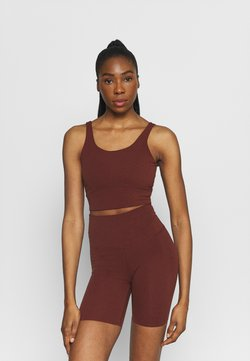 Nike Performance - THE YOGA LUXE CROP TANK - Top - bronze eclipse/smokey mauve