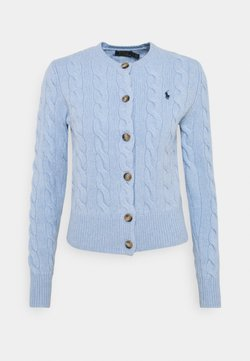 Polo Ralph Lauren - CARDIGAN LONG SLEEVE - Neuletakki - light blue heather