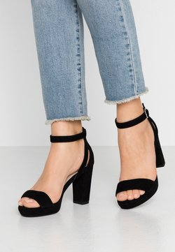 Anna Field - LEATHER HEELED SANDALS - Sandalen met hoge hak - black