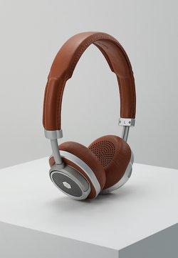 Master & Dynamic - MW50 WIRELESS ON-EAR - Høretelefoner - brown/silver