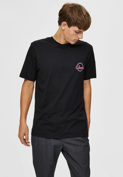Selected Homme - RELAXED FIT - T-Shirt print - caviar