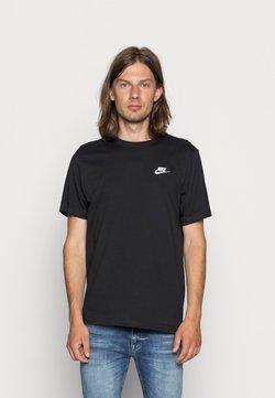 Nike Sportswear - CLUB TEE - T-shirt basique - black/white