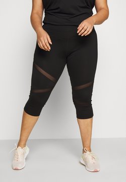 Wolf & Whistle - EXCLUSIVE CROPPED PANEL LEGGINGS - 3/4 Sporthose - black