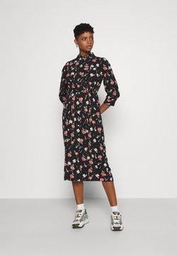 ONLY - ONLNOVA LUX 3/4 LONG DRESS - Vestido camisero - black