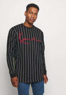 Karl Kani - SIGNATURE PINSTRIPE  - Maglietta a manica lunga - black
