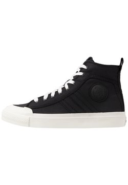 Diesel - ASTICO S-ASTICO MID LACE - Sneakers hoog - black/white