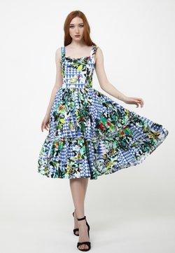 Madam-T - KERSTIN - Freizeitkleid - weiß, kornblumenblau