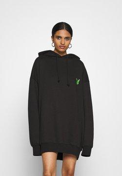 Missguided - PLAYBOY OVERSIZED LOGO HOODY DRESS - Vardagsklänning - black