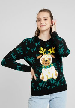Urban Classics - LADIES PUG CHRISTMAS - Pullover - black