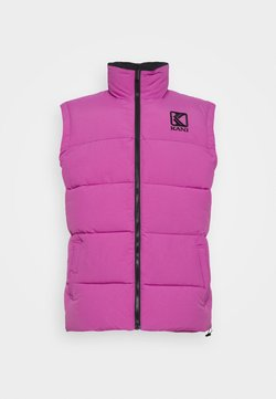 Karl Kani - PUFFER VEST UNISEX  - Smanicato - light purple