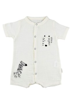 Cigit - ZEBRA EMBROIDERED MUSLIN ROMPER  - Jumpsuit - off-white
