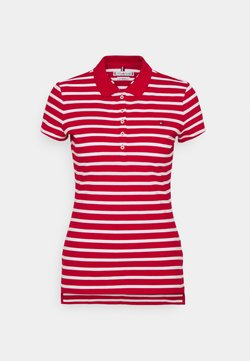 Tommy Hilfiger - SHORT SLEEVE SLIM STRIPE - Polo - primary red