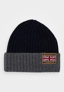 Hackett London - BEANIE - Mütze - navy/grey
