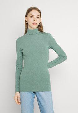 b.young - PAMILA ROLL NECK - Långärmad tröja - seagrass melange