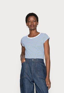 Mads Nørgaard - ORGANIC FAVORITE STRIPE TEASY - T-Shirt print - white/princess blue