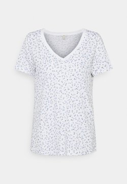 edc by Esprit - V NECK TEE - T-Shirt print - white
