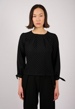 jeeij - Bluse - black dotted